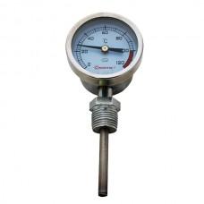 Термометр биметаллический радиальный  0-120 (нерж. сталь)