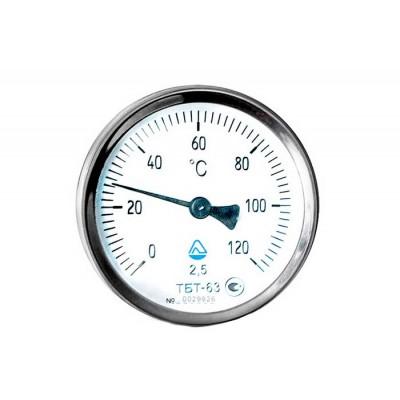 Термометр биметаллический, 0-120